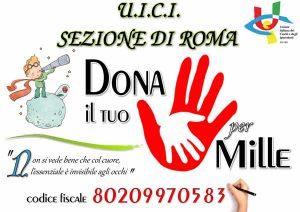 Il tuo 5 per 1000 alla sezione di Roma